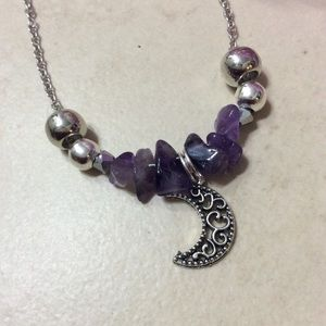 Unique Styles necklaces Jewelry - 🌸 NEW SILVER PURPLE AMETHYST NECKLACE & EARRINGS